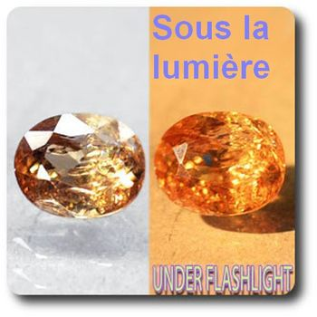 2.51 cts AXINITE (Fe) COULEUR CHANGEANTE . SI1