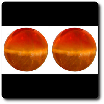 1.01 CT.  2 pcs. NATURAL FIRE OPAL CAT'S EYE