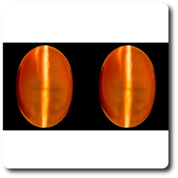 1.72 CT.  2 pcs. NATURAL FIRE OPAL CAT'S EYE