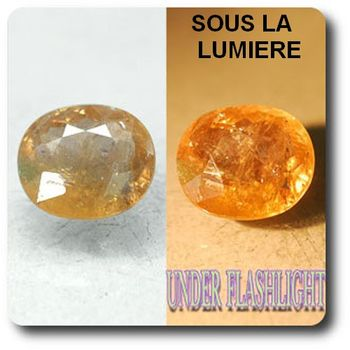 4.88 cts AXINITE (Fe) COULEUR CHANGEANTE . SI1