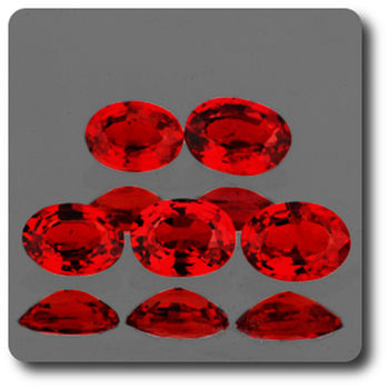 0.16 CT.  ORANGE RED SAPPHIRE . 4 - 2,7 MM. IF - VVS1 ( 1 piece )