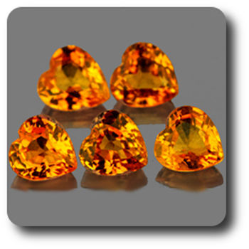 0.31 CT. YELLOW SAPPHIRE . 4 MM. IF - VVS1 ( 1 piece )