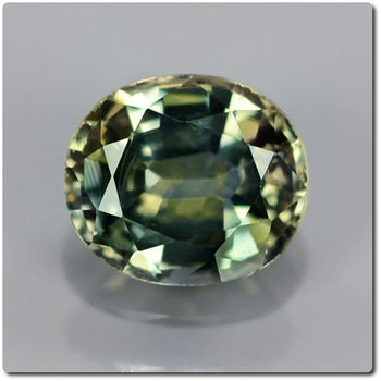 0.88 CT.  GREEN YELLOW SAPPHIRE. SI1