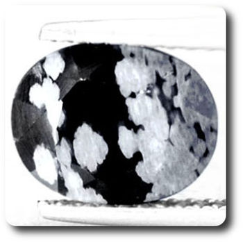 1.86 cts OBSIDIENNE FLOCON DE NEIGE