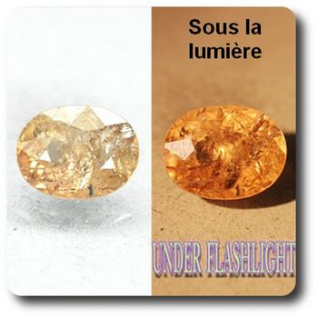 2.97 cts AXINITE (Fe) COULEUR CHANGEANTE . SI1