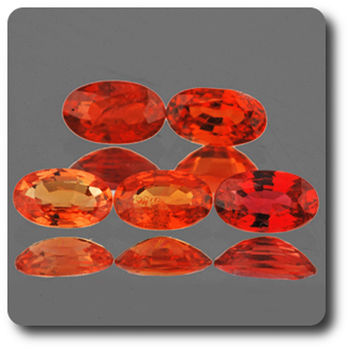 0.31 CT.  ORANGE RED SAPPHIRE . 5 x 3 MM. IF - VVS1 ( 1 piece )
