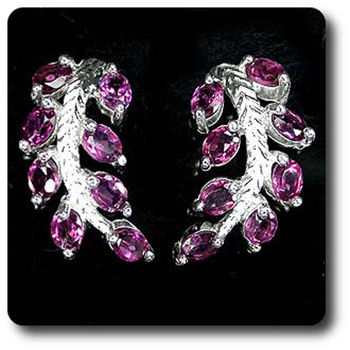 RHODOLITE GARNET EARRINGS
