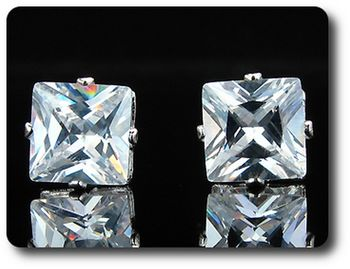 2x3 mm Created Diamond Earrings