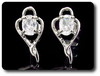 2x7 mm Simulated Diamond  Earrings