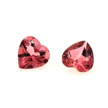 0.84 CT. 2 pcs. PINK  TOURMALINE . VVS1