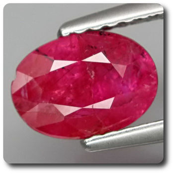 1.55 CT.  RED RUBY. Unheated