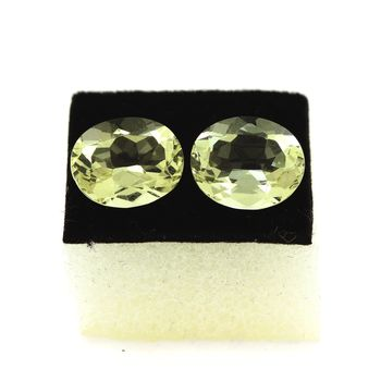 4.84 cts LOT DE 2 ORTHOSE JAUNE. 10x8 MM. IF - VVS1