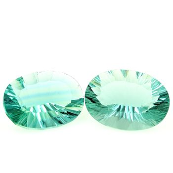 26.83 CT. 2 PCS. GREEN FLUORITE. IF