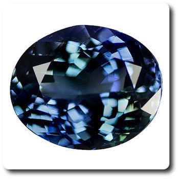 3.98 CT. BLUE TANZANITE. IF