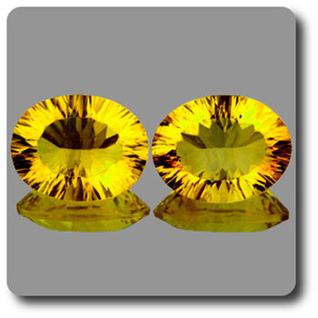 34.05 CT. 2 pcs. NATURAL YELLOW FLUORITE. VVS1