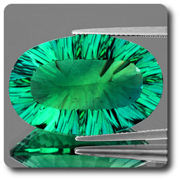37.63 CT. NATURAL GREEN FLUORITE. VVS1