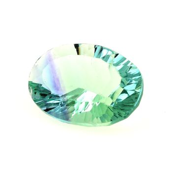 13.47 CT. NATURAL GREEN FLUORITE. VVS1