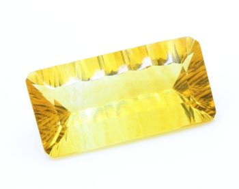 12.93 CT. NATURAL YELLOW FLUORITE. VVS1