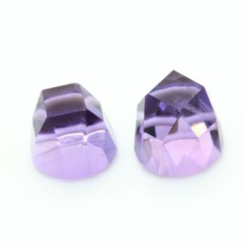 3.35 CT. 2 piece PURPLE AMETHYST . VVS1