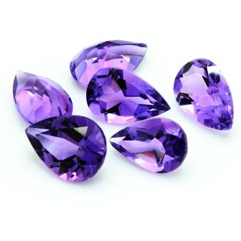 PURPLE AMETHYST .Pear. VVS1 ( 1 piece )