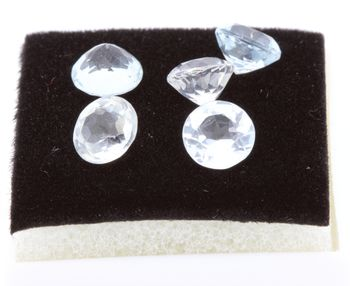 WHITE TOPAZ. Round . IF - VVS1 ( 1 piece )