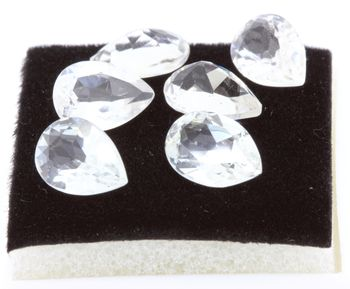 WHITE TOPAZ. Pear. IF - VVS1 ( 1 piece )