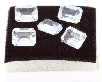 WHITE TOPAZ. Rectangle . IF - VVS1 ( 1 piece )