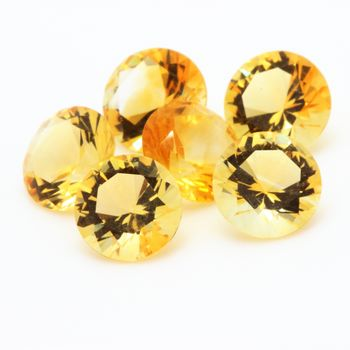 YELLOW CITRINE. ROUND - VVS1 ( 1 piece )