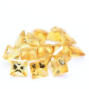 YELLOW CITRINE. square - VVS1 ( 1 piece )