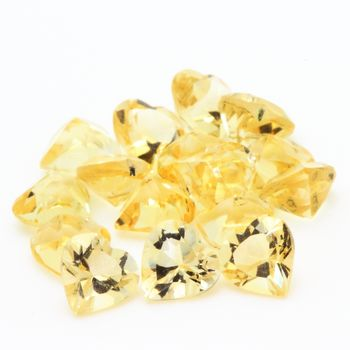 YELLOW CITRINE. Heart - VVS1 ( 1 piece )