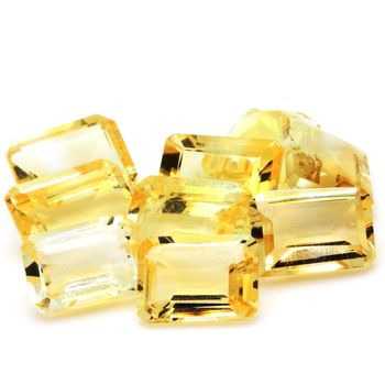 YELLOW CITRINE. Rectangle - VVS1 ( 1 piece )