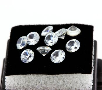 NATURAL WHITE ZIRCON. IF