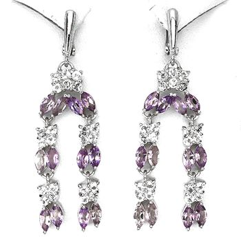 Amethyst, Topaz EARRINGS