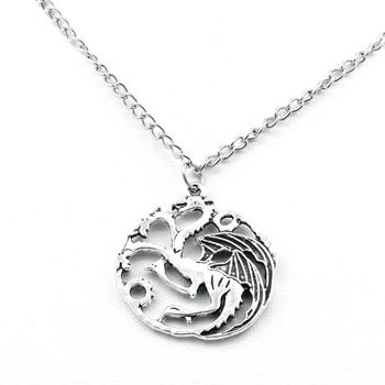 Pendentif Collier Game Of Thrones Targaryen Sigil Dragon