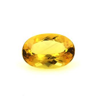 Béryl jaune Héliodore. 2.39 cts.