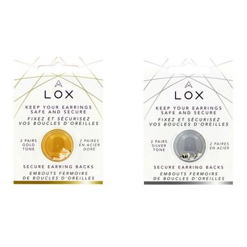Lox secure locking earring backs from Aloxia.