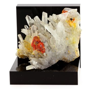 Realgar, Quartz, Pyrite. 300.8 ct.
