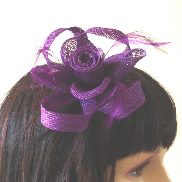 Sinamay hairpin/brooch for weddings or evenings : 8 colours