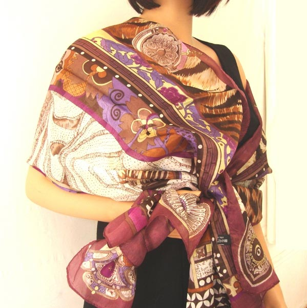 "Pure silk stole ""Nomade"""
