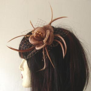 Wedding hair accessory or brooch - chocolate only!