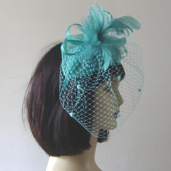 Sinamay fascinator - 4 COLOURS