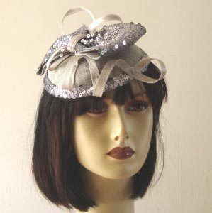 Fascinator with sequins for fetes