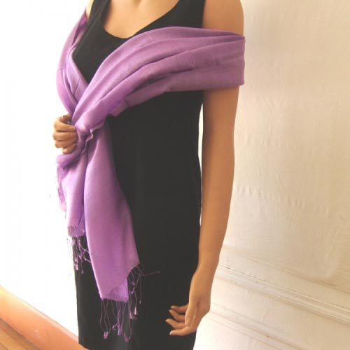 Stole silk and viscose