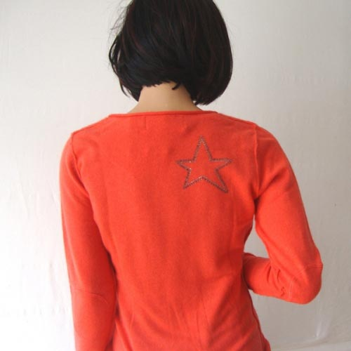 Coral cashmere pull over - Size L : 38/40 - XL : 40/42