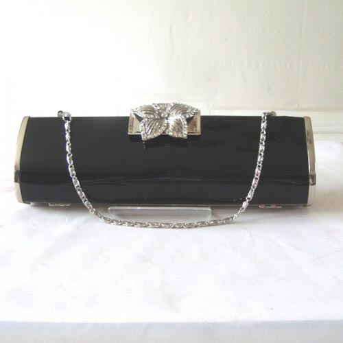 Black wedding, evening varnished patent leather - black only
