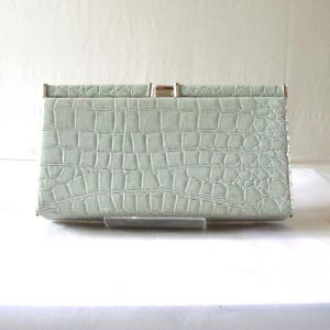 Sac ultra plat en simili croco en GRIS