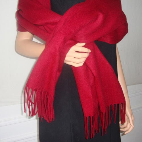 Burgundy shawl