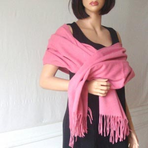 Old pink shawl