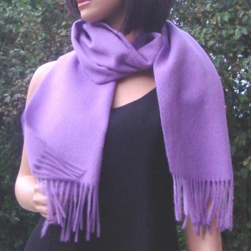 Lovely lilac cashmere/wool scarf