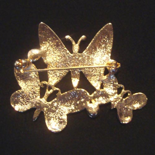 Brooch with 3 butterflies